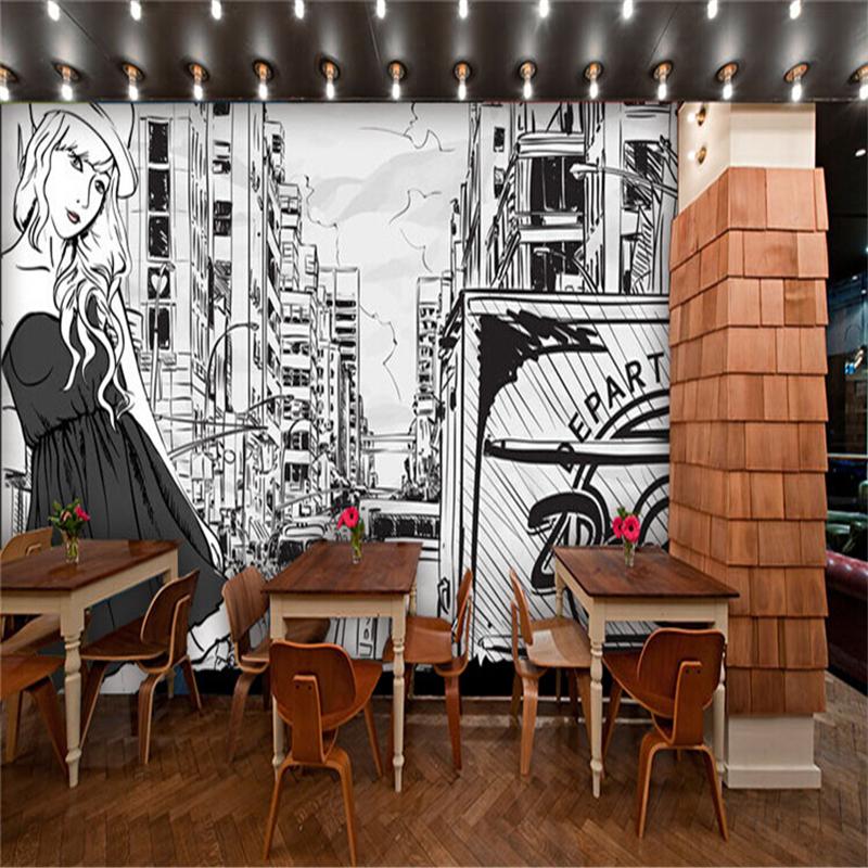 Tranh tường quán cafe ăn khách 2019
